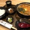 淡路島・鍋奉行たへゑでランチ❗️なべ焼き豚キムチうどん定食が旨し🤤ボリュームも大満