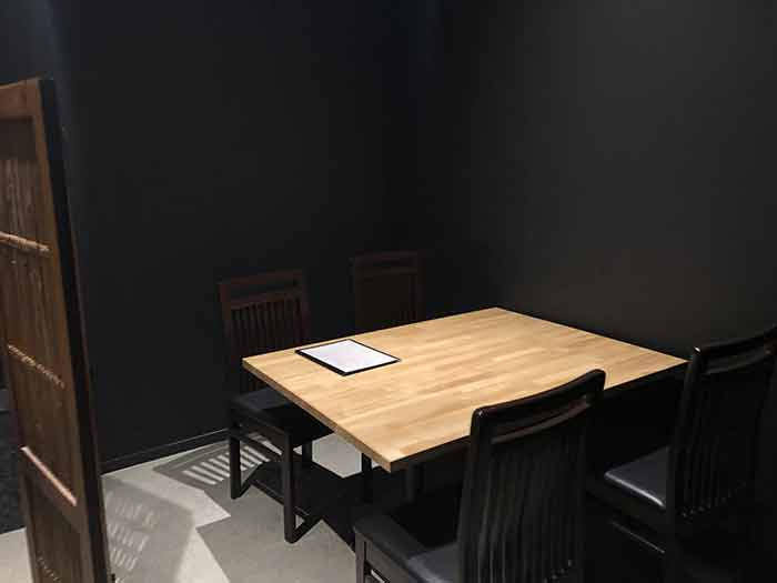 たへゑの店内の様子(奥のテーブル席)