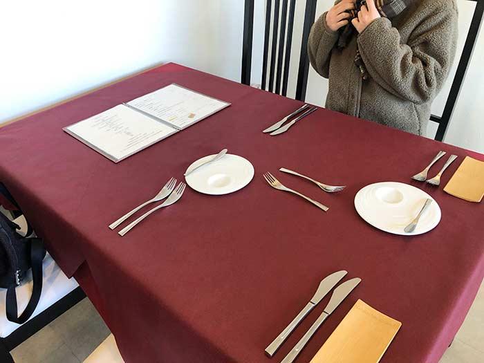 レスプリドグリシーヌのテーブルセット