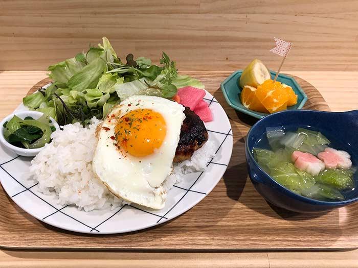 鶏ロコモコセット