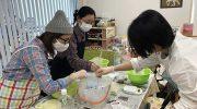 淡路島・アロマピアで、手作り石けんワークショップを体験❗️化学の実験みたいで楽しかったよ〜😁