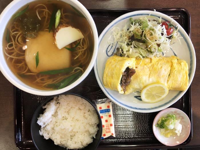肉巻定食(そば)
