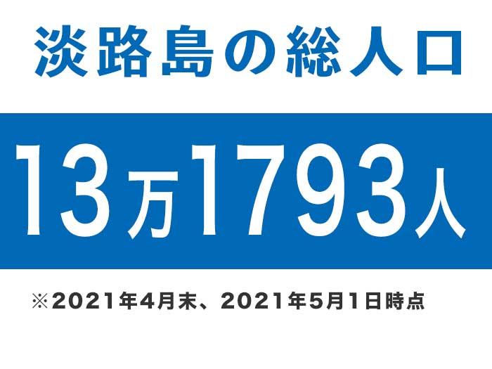 淡路島の総人口は、13万1793人