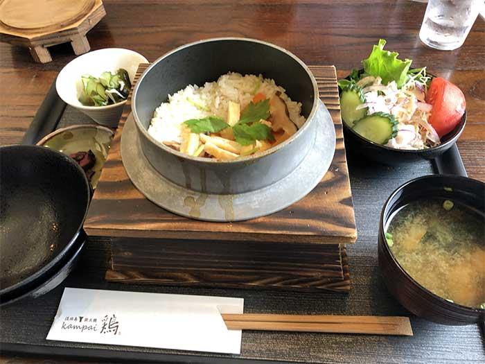 鶏釜飯定食
