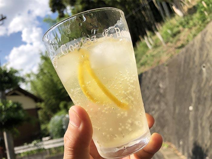 レモンとローズマリーのスカッシュ