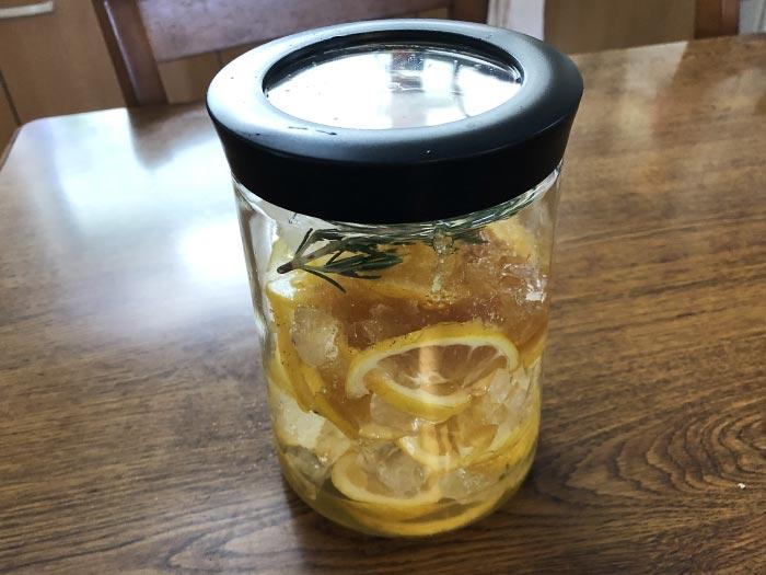 レモンとローズマリーのシロップ