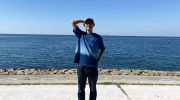 淡路島・AiAii(藍藍ー)で、天然藍染Tシャツを購入❗️ちょ〜お気に入りでございます😆