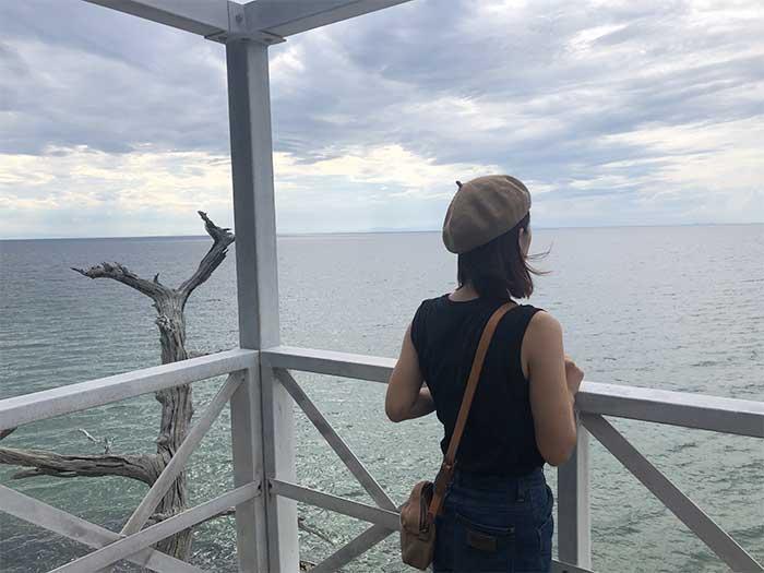 明神岬の展望台