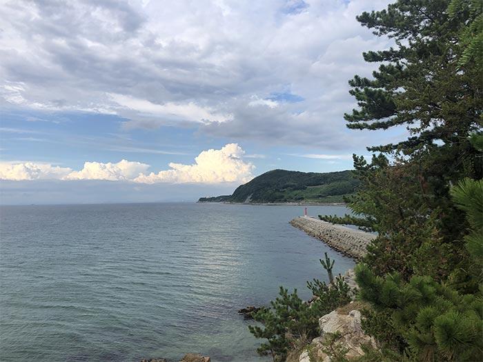 明神岬の展望台からの眺め